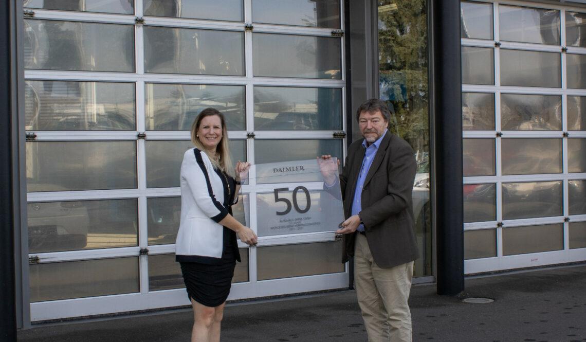 Mercedes-Benz Partner seit 50 Jahren